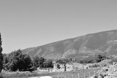 Ruinen des alten griechischen Amphitheaters Stockfotos