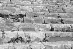 Ruinen des alten griechischen Amphitheaters Lizenzfreies Stockbild