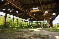 Ruinen des alten Naziflugplatzes auf baltischem Spucken Stockbild