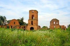 Ruinen des alten Schlosses oder der Festung, Korets, Ukraine Lizenzfreies Stockbild