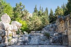 Ruinen des alten Tempels an Dorf Niha Bekaa Lizenzfreie Stockbilder