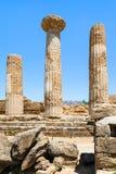 Ruinen des alten Tempels von Heracles in Agrigent lizenzfreies stockbild
