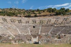 Ruinen des alten Theaters von Halicarnassus, jetzt Bodrum lizenzfreies stockbild