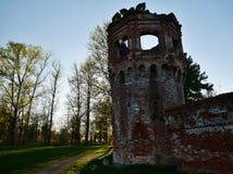 Ruinen des alten Ziegelsteinturms lizenzfreie stockbilder