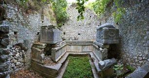 Ruinen des Altgriechische Stockbild