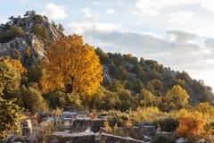 Ruinen des Altgriechischen und der römischen Stadt Adada Stockbilder