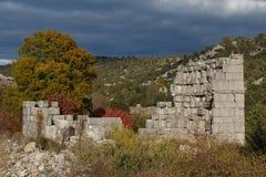 Ruinen des Altgriechischen und der römischen Stadt Adada Stockfoto
