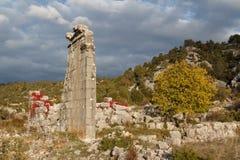 Ruinen des Altgriechischen und der römischen Stadt Adada Stockbild