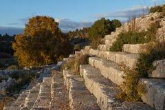 Ruinen des Altgriechischen und der römischen Stadt Adada Lizenzfreies Stockfoto