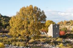 Ruinen des Altgriechischen und der römischen Stadt Adada Lizenzfreies Stockbild