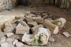 Ruinen des Augustinian Klosters, Pivon, Tschechische Republik Stockbild