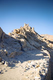 Ruinen des buddhistischen Klosters auf Berg Lizenzfreies Stockfoto