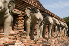 Ruinen des buddhistischen Tempels stockbild