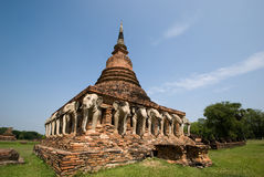 Ruinen des buddhistischen Tempels lizenzfreie stockfotos
