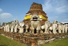 Ruinen des buddhistischen Tempels stockfoto