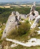 Ruinen des Cachtice Schlosses Stockbilder