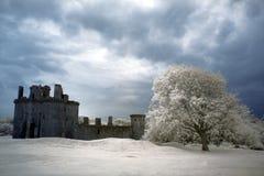 Ruinen des Caerlaverock Schlosses, Schottland Lizenzfreie Stockfotos