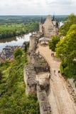 Ruinen des Chinon-Schlosses Lizenzfreie Stockfotos
