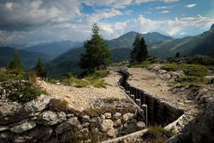 Ruinen des ersten Globalkriegs Lizenzfreies Stockbild