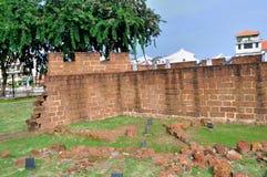 Ruinen des Forts ein Famosa Stockfoto