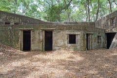 Ruinen des Forts Fremont nahe Beaufort, South Carolina Stockbild