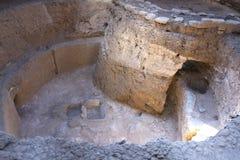 Ruinen des frühen Amerikaners Pit House in Mesa Verde National Park Lizenzfreie Stockfotografie