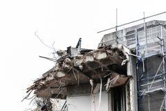 Ruinen des Gebäudes unter Zerstörung, städtische Szene Lizenzfreie Stockfotografie