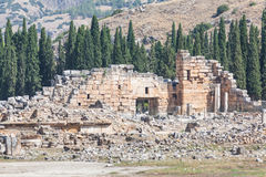 Ruinen des Hierapolis Stockbilder