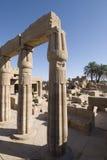 Ruinen des karnak Tempels Stockbilder