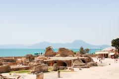Ruinen des Karthagos Stockbild