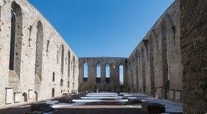 Ruinen des Klosters stockfotos