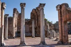 Ruinen des Landhauses Adriana nahe Rom, Italien Lizenzfreies Stockbild