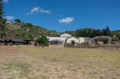 Ruinen des Landhauses Romana del Casale, Sizilien stockfotos