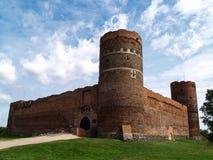 Ruinen des mittelalterlichen Schlosses in Ciechanow, Polen Stockbild