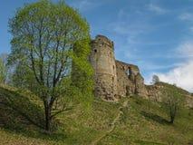 Ruinen des mittelalterlichen Schlosses in Koporie, Russland Lizenzfreies Stockbild