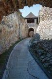 Ruinen des mittelalterlichen Schlosses Trencin Lizenzfreies Stockbild