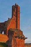 Ruinen des Ordensburg Schlosses Lizenzfreie Stockbilder