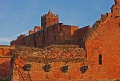 Ruinen des Ordensburg Schlosses Lizenzfreie Stockfotos