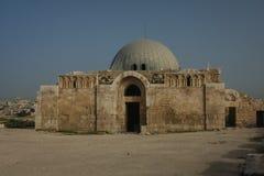 Ruinen des Palastes in der Zitadelle von Amman, Jordanien Lizenzfreie Stockbilder