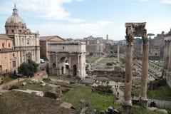 Ruinen des römischen Forums Stockfotos