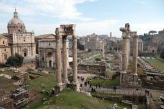Ruinen des römischen Forums Stockbilder