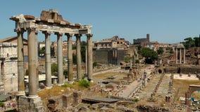 Ruinen des römischen Forums stock footage