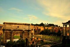 Ruinen des römischen Forums Lizenzfreie Stockfotos