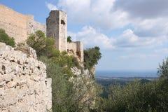 Ruinen des Schlosses Stockfotos