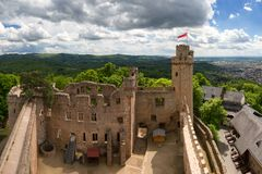 Ruinen des Schlosses Auerbach stockbild