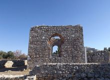 Ruinen des Schlosses Bechin Milas die Türkei Lizenzfreie Stockfotografie