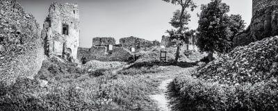 Ruinen des Schlosses Gymes in Slowakei Stockfoto