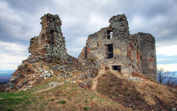 Ruinen des Schlosses Gymes Slowakei Lizenzfreie Stockbilder