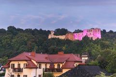 Ruinen des Schlosses in Kazimierz Dolny, Polen Lizenzfreie Stockbilder