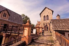 Ruinen des Schlosses in Polen stockbild